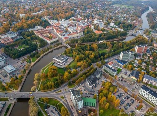 Center of Tartu aerial view