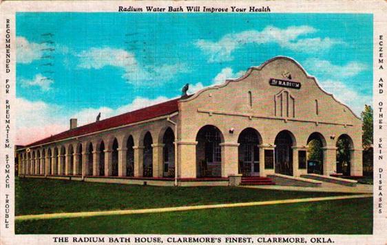 Raadiumi vanne reklaamiv postkaart (Theodore W. Gray)