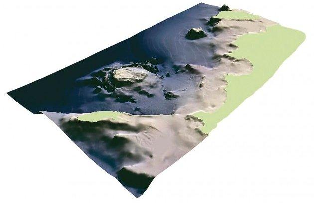 Neugrundi kraatri makett (Allikas: Eesti Geoloogiateenistus)