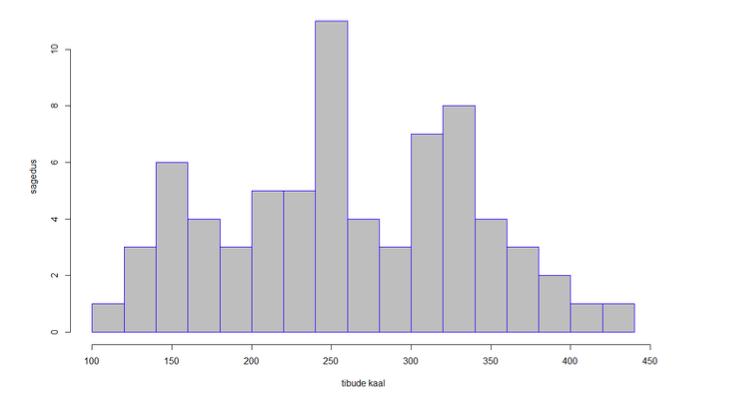 Joonis 7. Viimistletud histogramm