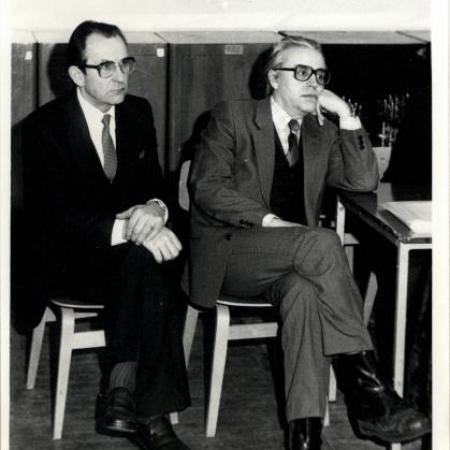 Karl Muru ja Huno Rätsep – 1984. aasta lennu viimase loengu pidajad (1984)