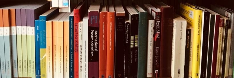A bookshelf featuring Interlitteraria