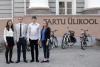 Arvamusfestivali töögrupp - Laura, Peeter, Henrik ja Stina