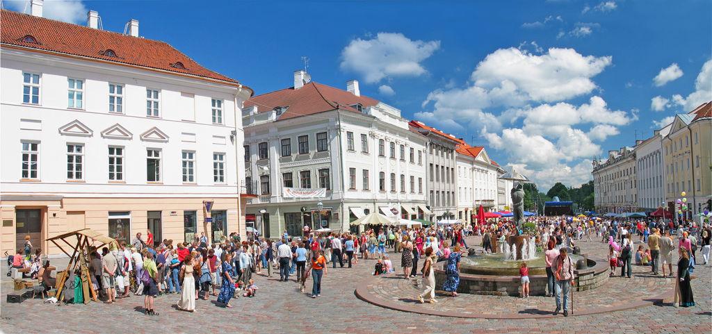 Central square of Tartu