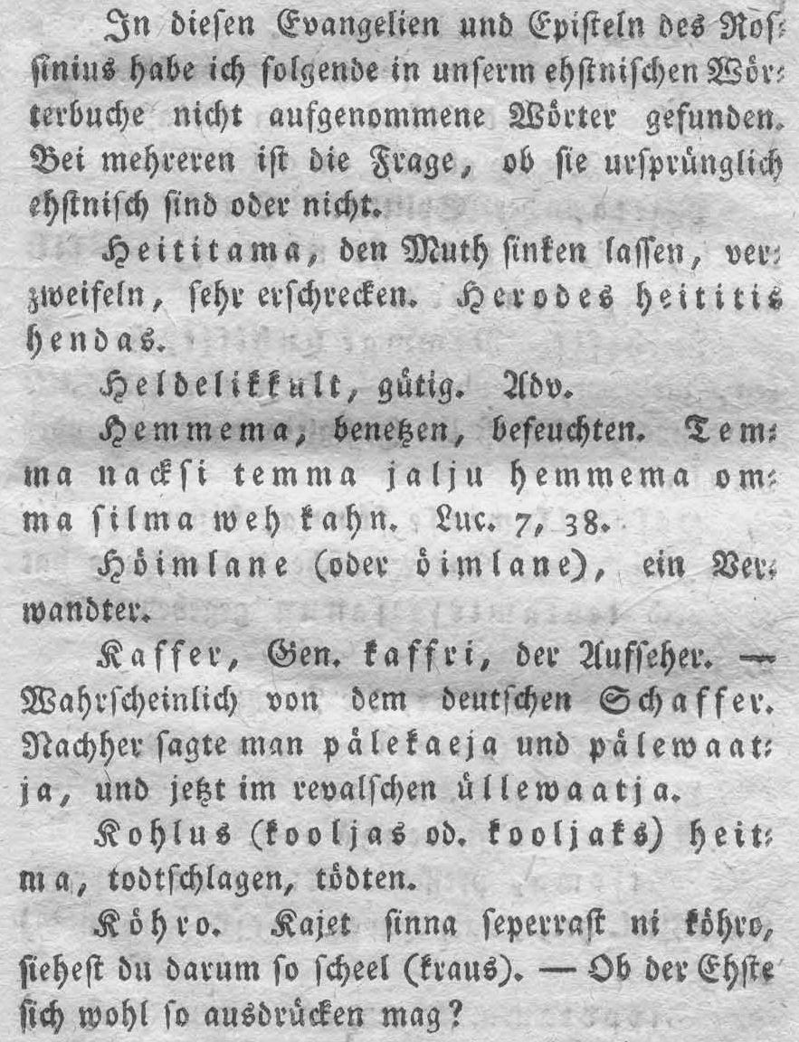 Heinrich Rosenplänter, Beiträge ... V vihik, 1816 (väljalõige)