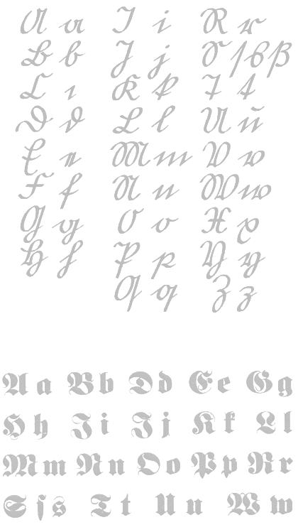 gooti kiri, gooti kirjutuskiri