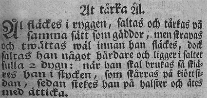 Cajsa Warg, Hjelpreda I Hushållningen För Unga Fruentimber (1755)