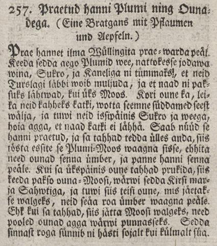 Johann Lithander, Köki ja Kokka Ramat, 1781 (väljalõige)