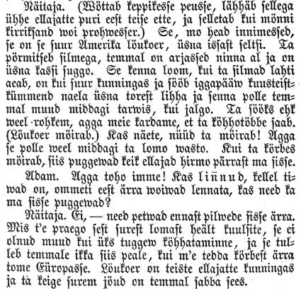 Naljajutt lõvist (katkend), Perno Postimehhe lissa-kirri, 17.08.1866
