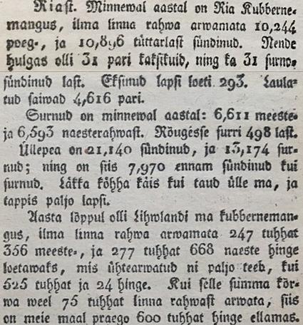 O.W. Masing, Marahwa Näddala-Leht, 1822, lk 74-75