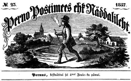 Perno Postimees ehk Näddalileht (päismik)