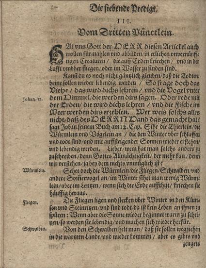 Gregor Strigenitz, Ossa rediviva; üks lehekülgedest, millele Müller oma 31. jutluses viitab
